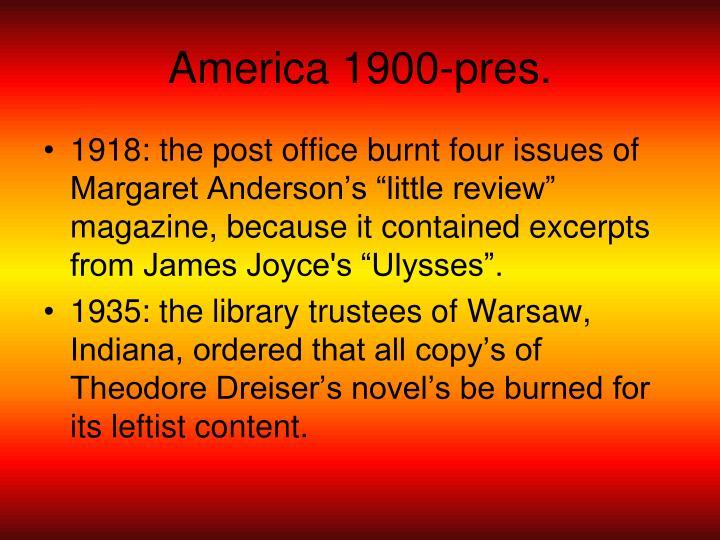 America 1900-pres.