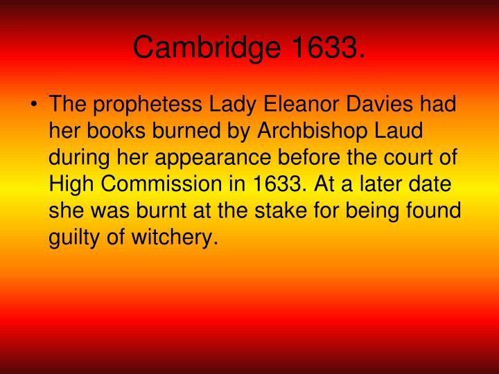 Cambridge 1633.