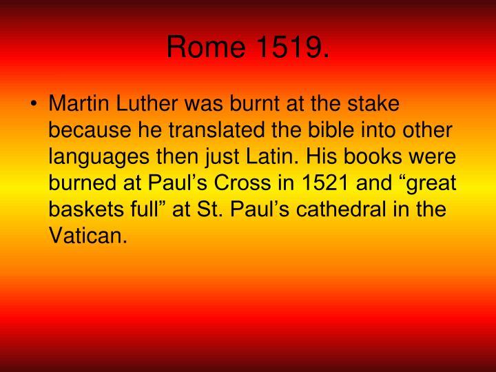 Rome 1519.