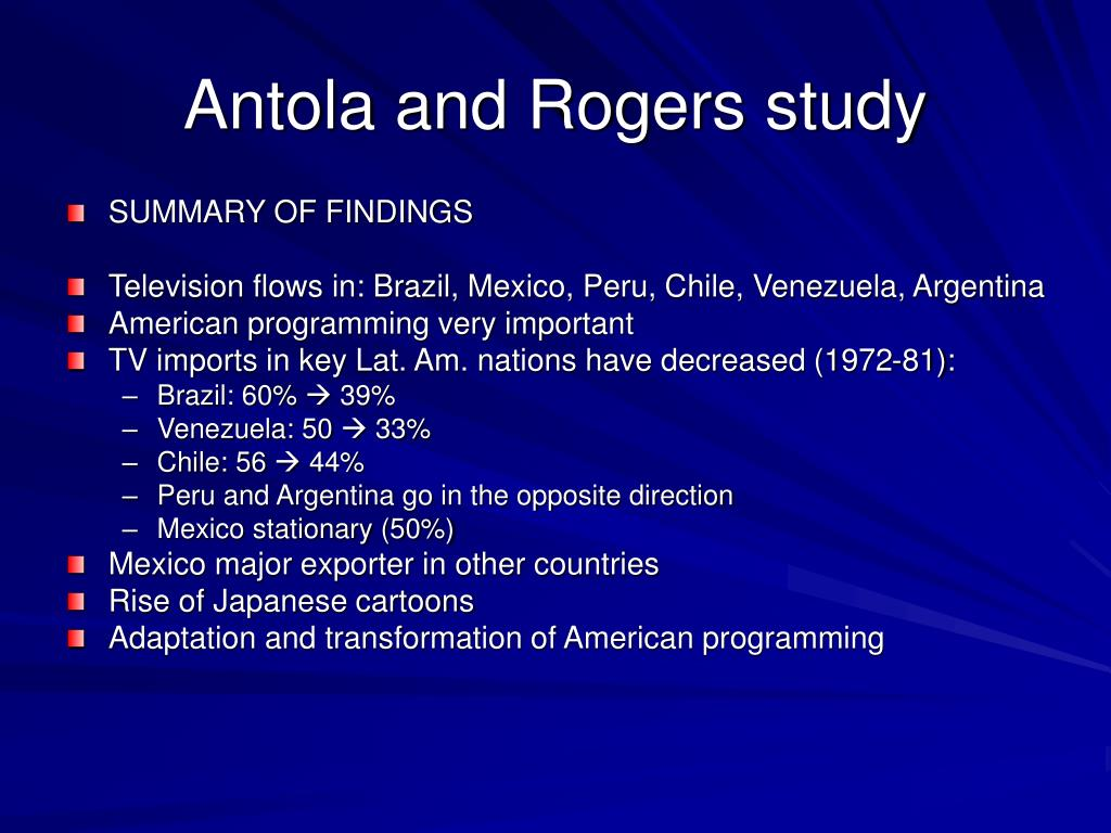 Antola and Rogers study
