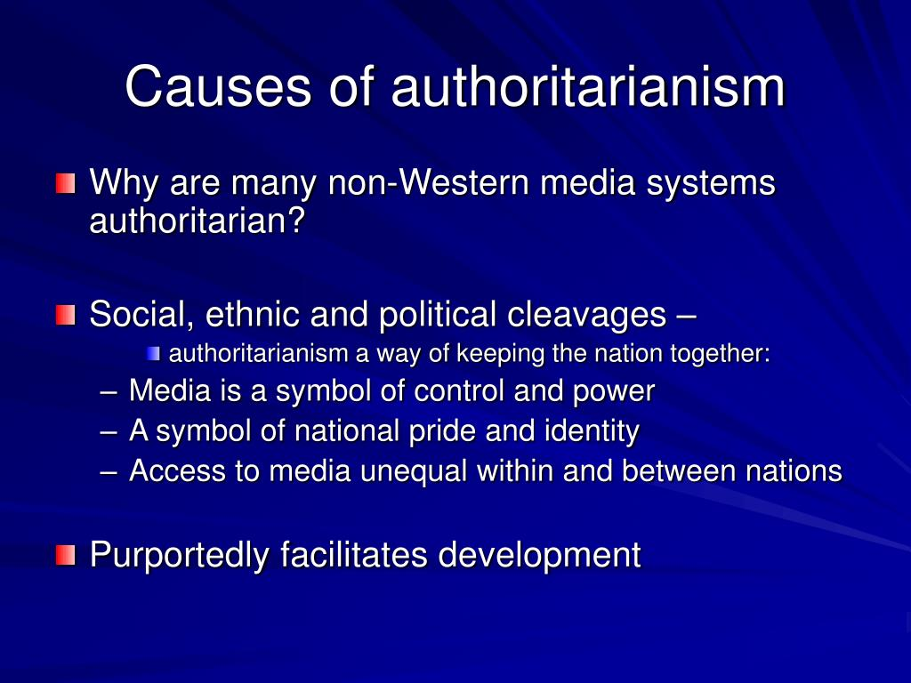 Causes of authoritarianism