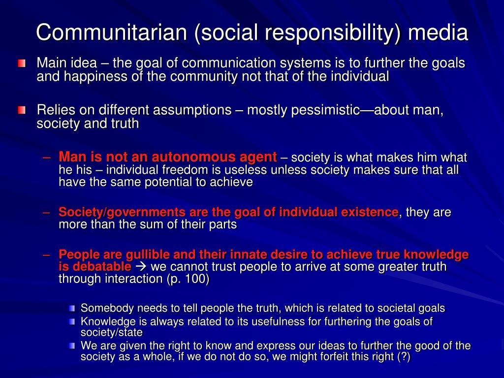 Communitarian (social responsibility) media