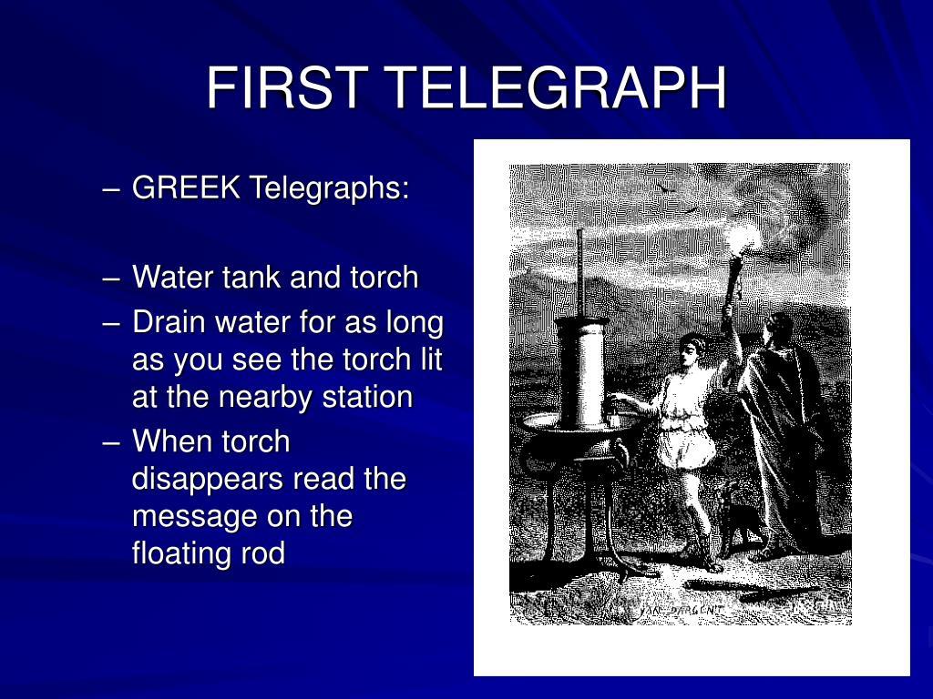 FIRST TELEGRAPH