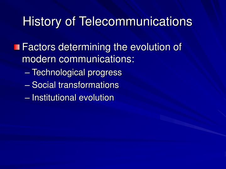 History of telecommunications