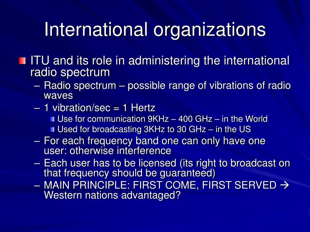 International organizations