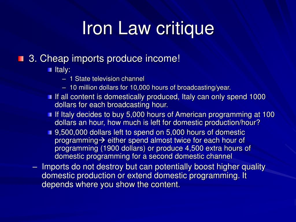 Iron Law critique
