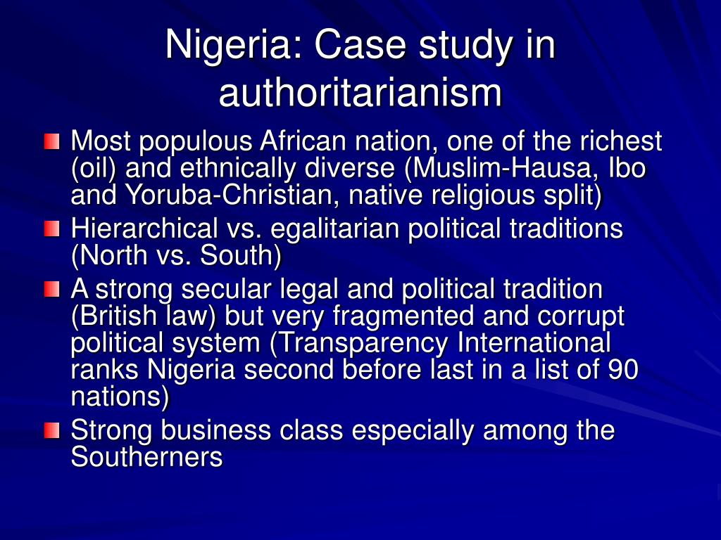 Nigeria: Case study in authoritarianism