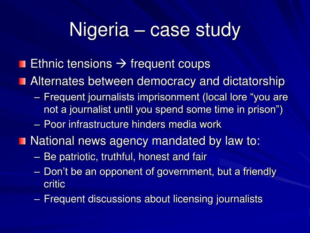 Nigeria – case study