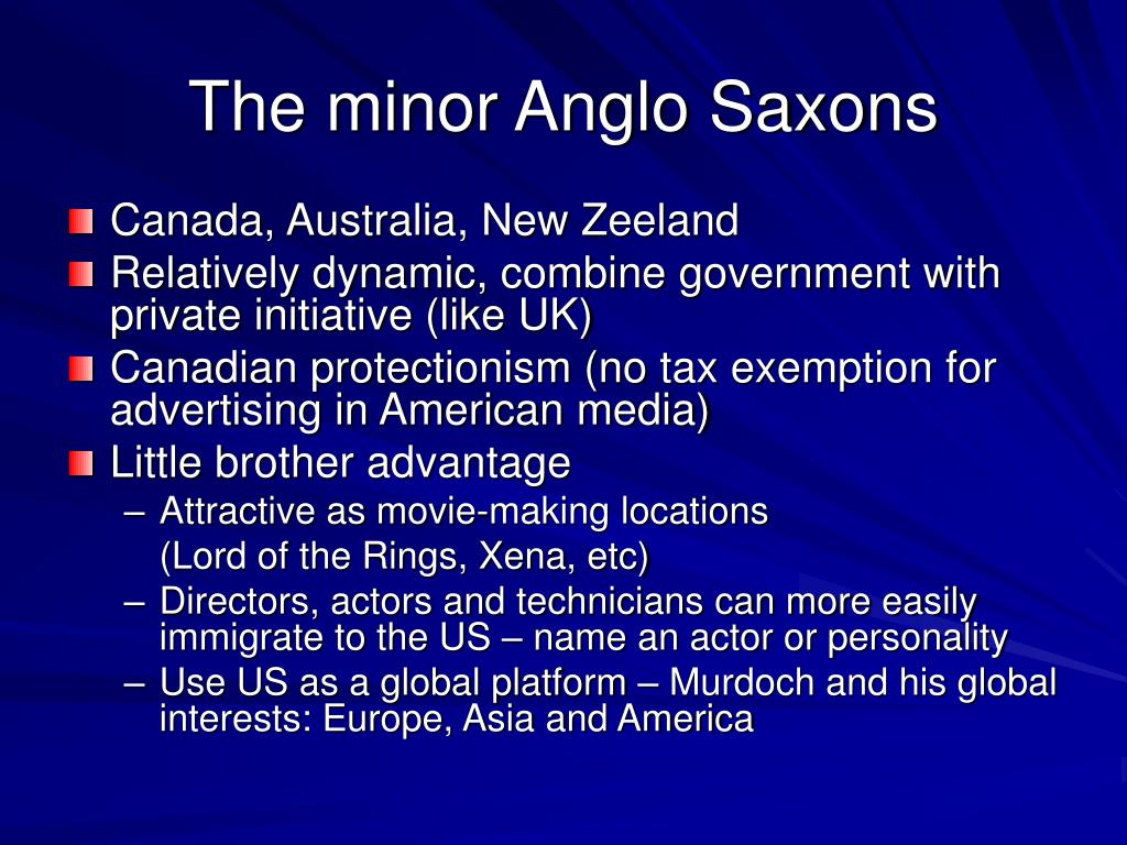 The minor Anglo Saxons
