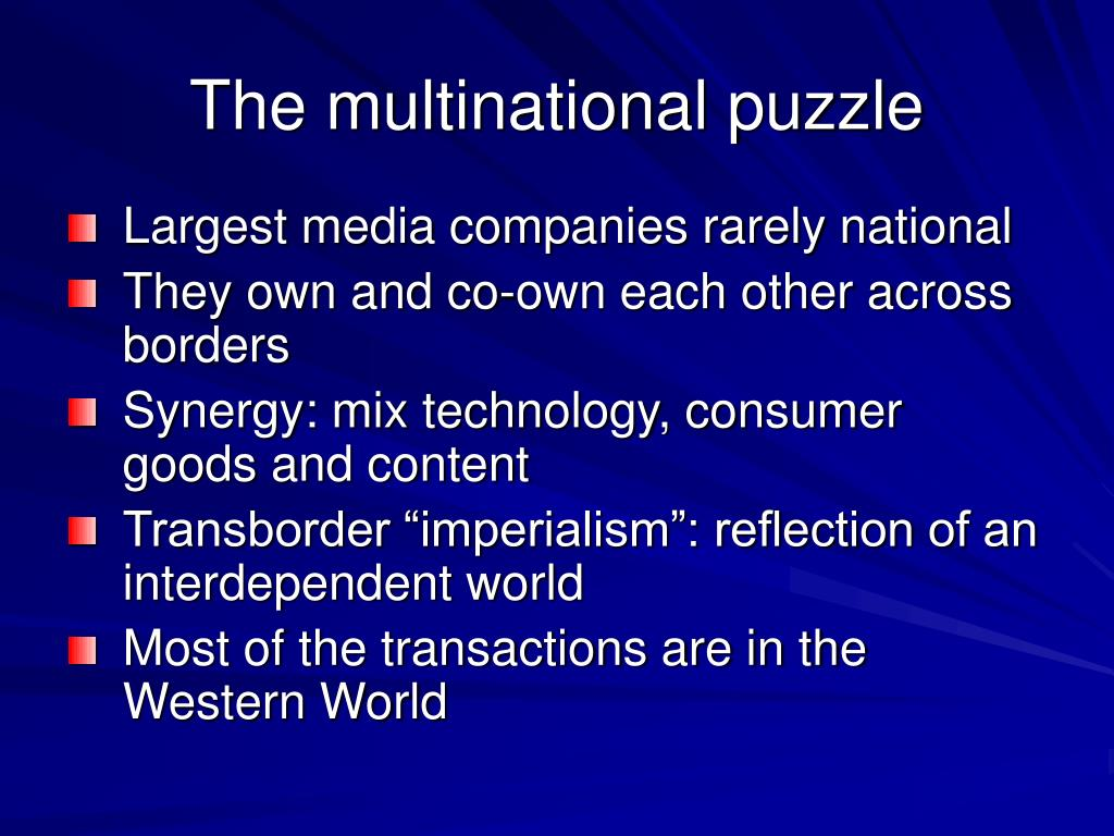 The multinational puzzle