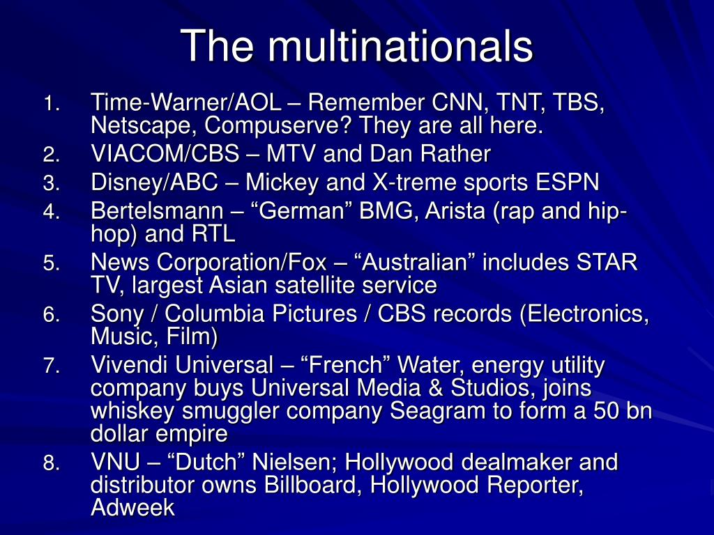 The multinationals