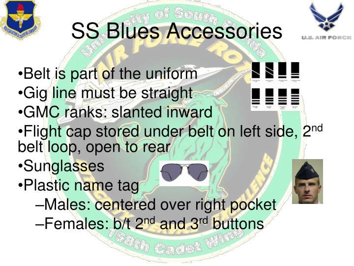 Belt is part of the uniform