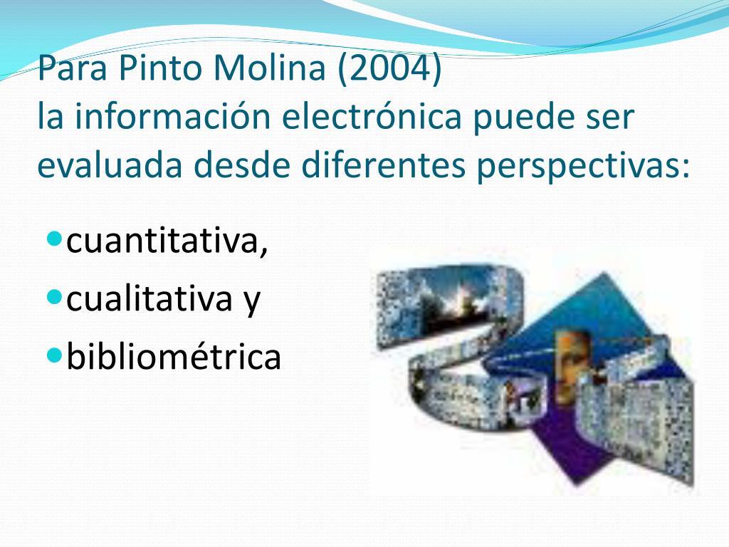 Para Pinto Molina (2004)