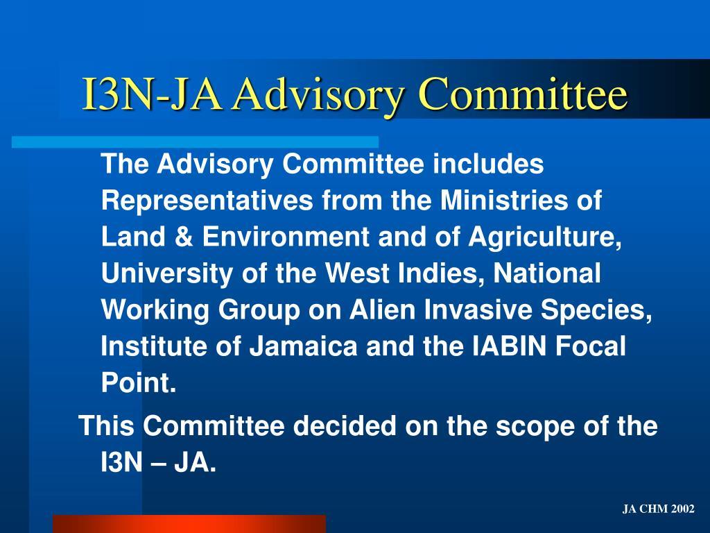 I3N-JA Advisory Committee