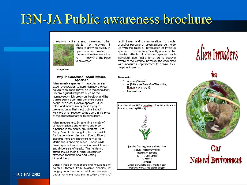 I3N-JA Public awareness brochure