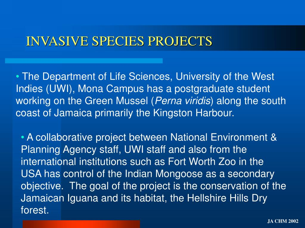 INVASIVE SPECIES PROJECTS