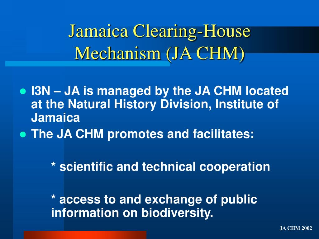 Jamaica Clearing-House Mechanism