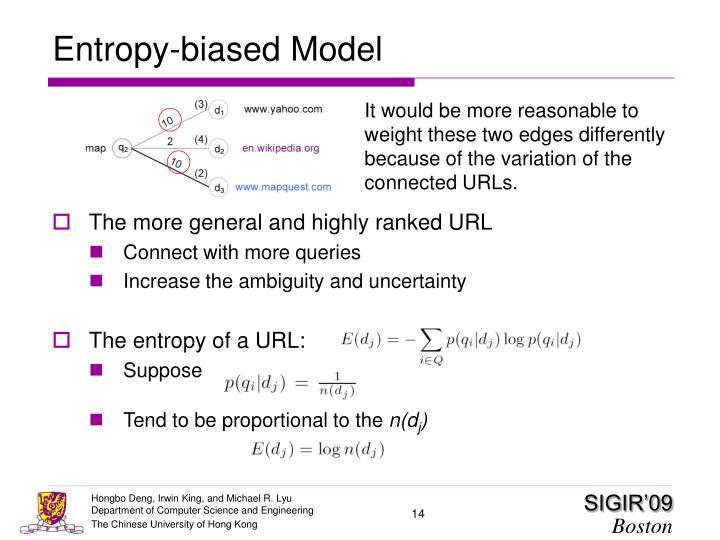 Entropy-biased Model
