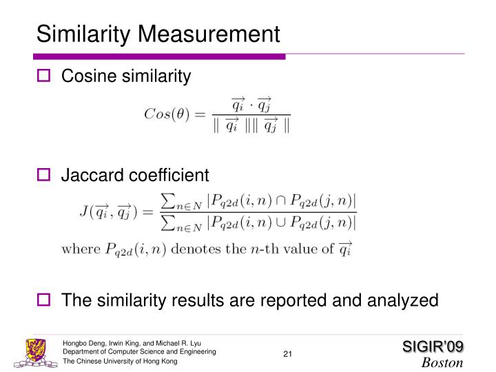 Similarity Measurement