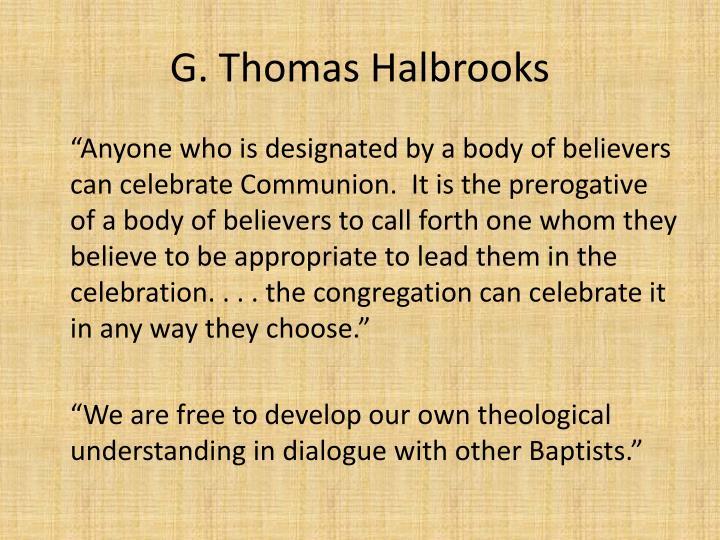 G. Thomas Halbrooks