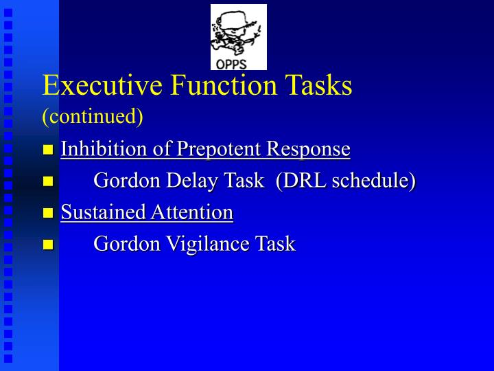Executive Function Tasks