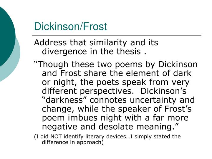 Dickinson/Frost