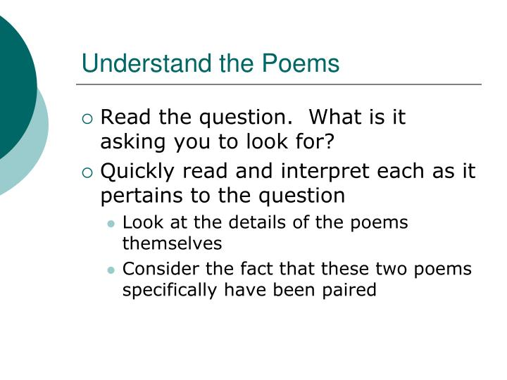 Understand the poems