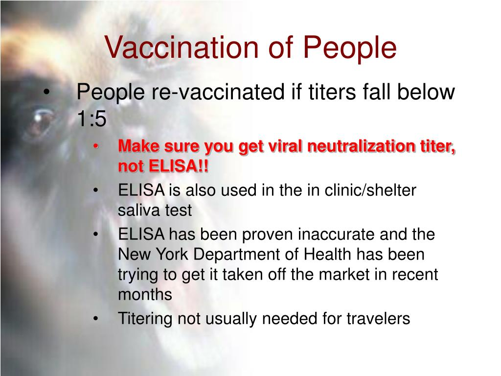 Vaccination of People
