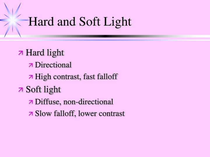 Hard and Soft Light