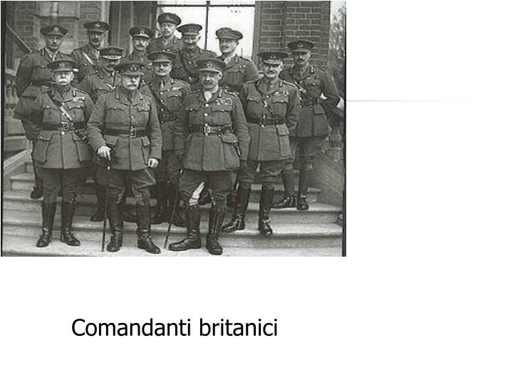 Comandanti britanici