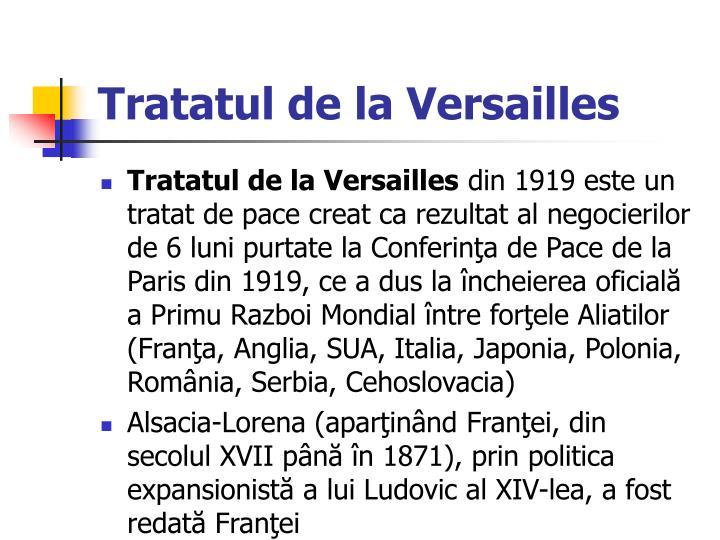Tratatul de la Versailles