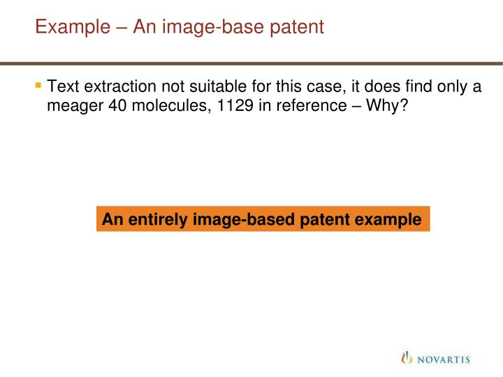 Example – An image-base patent