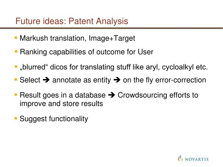 Future ideas: Patent Analysis