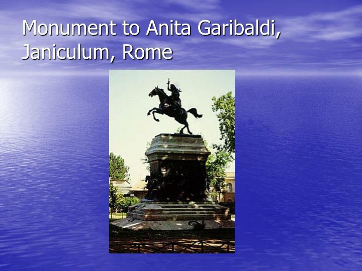 Monument to Anita Garibaldi, Janiculum, Rome
