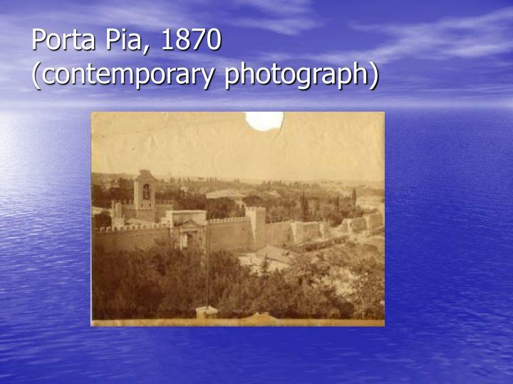 Porta Pia, 1870