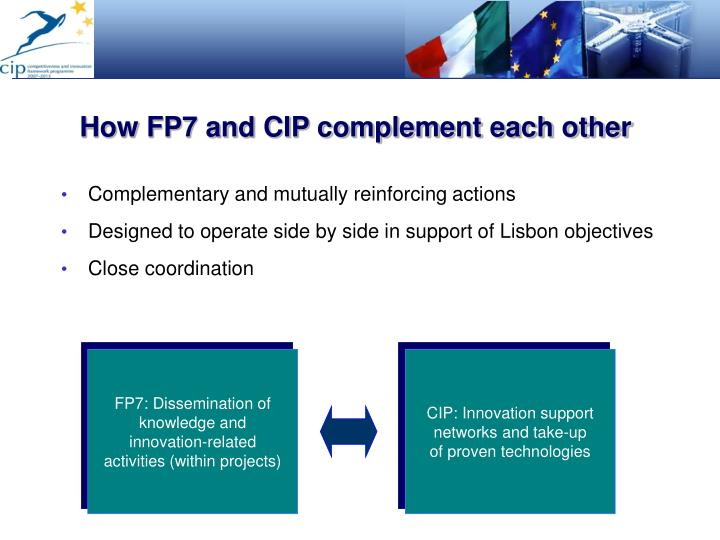 How FP7 and CIP complement each other