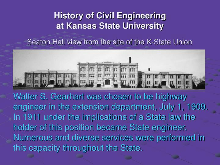 History of civil engineering at kansas state university1
