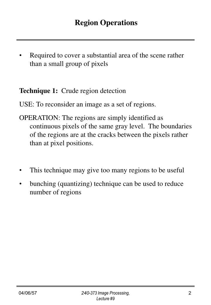 Region Operations