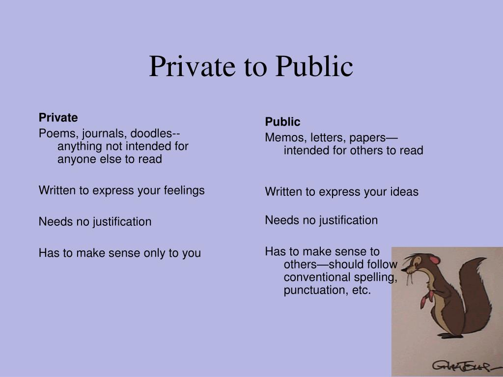 Private to Public