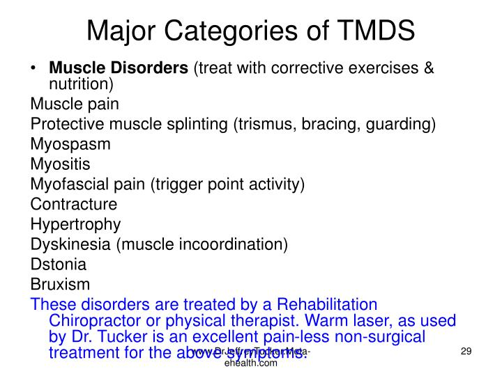 Major Categories of TMDS