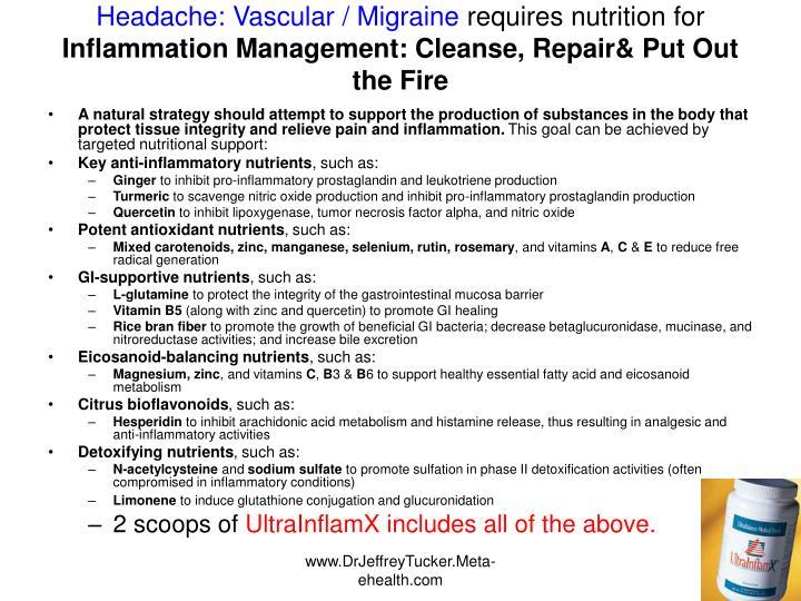 Headache: Vascular / Migraine