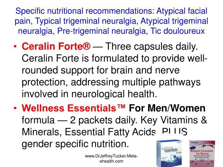 Specific nutritional recommendations: