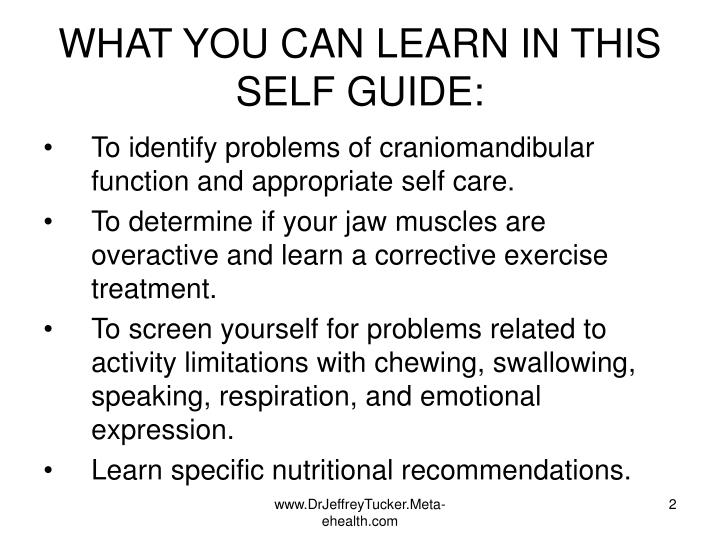 What you can learn in this self guide