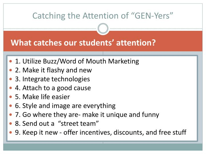 "Catching the Attention of ""GEN-Yers"""