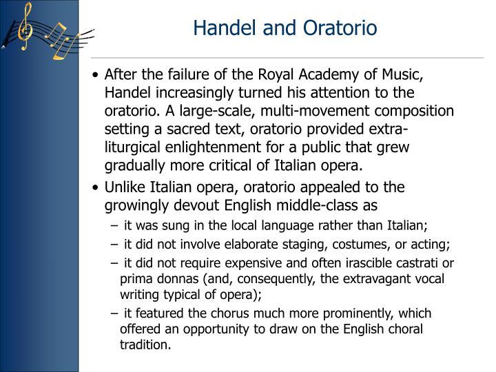 Handel and Oratorio