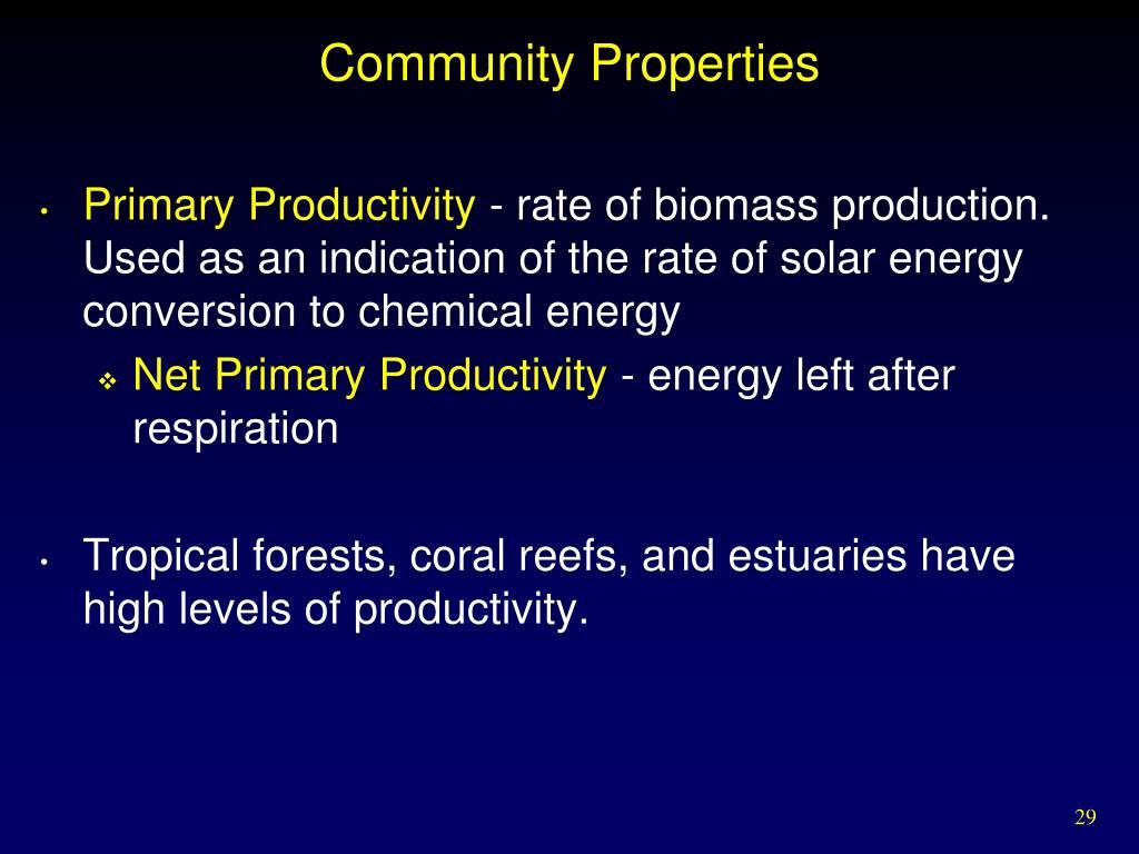 Community Properties