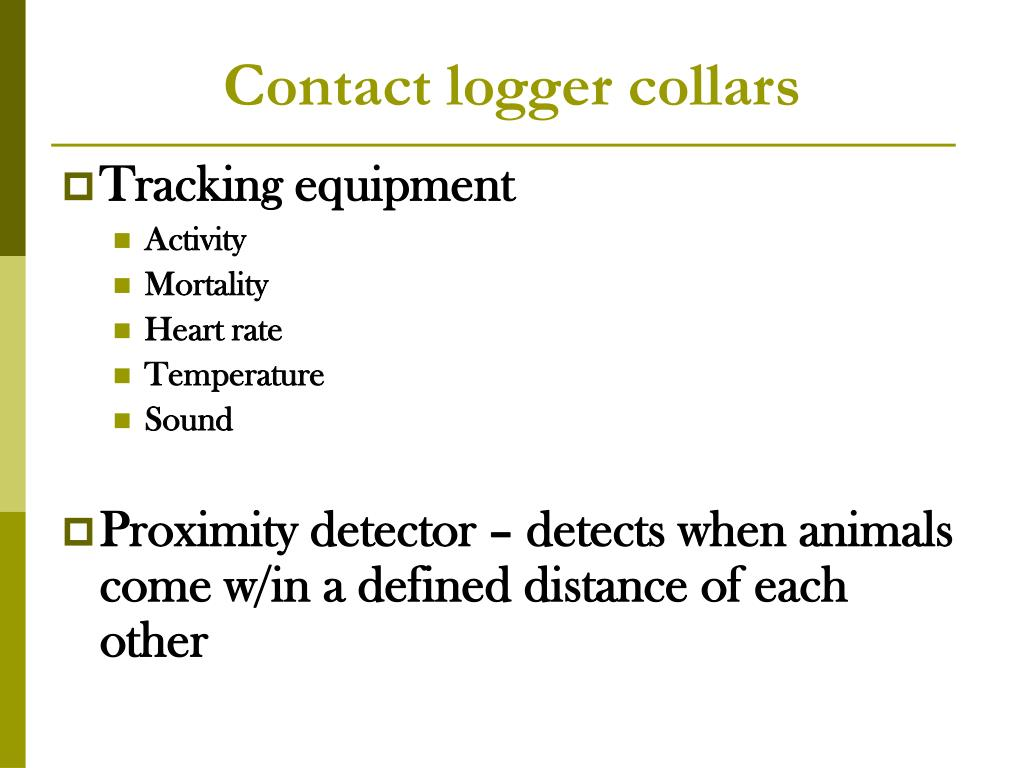 Contact logger collars