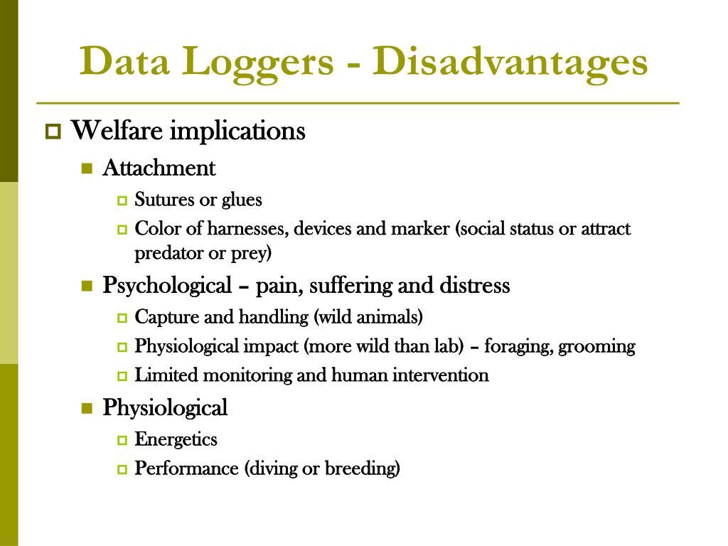 Data Loggers - Disadvantages