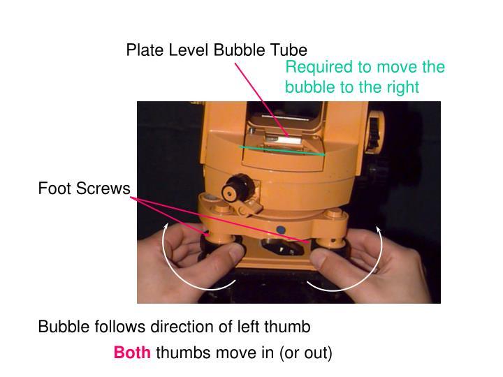 Plate Level Bubble Tube