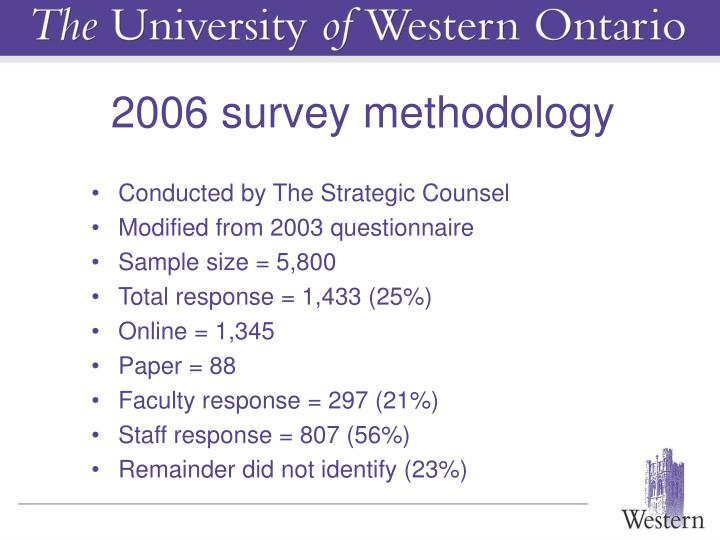 2006 survey methodology